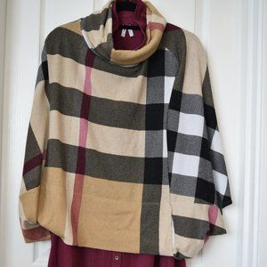 Sweaters - Burberry-esque Poncho with POCKET